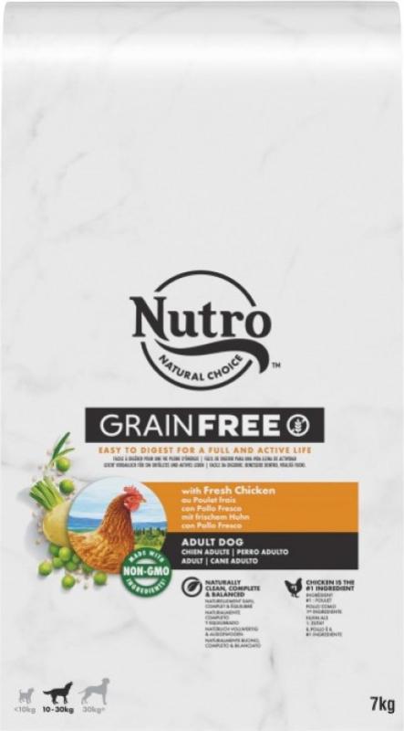 NUTRO Grain Free sans céréales au poulet pour chien adulte de moyenne et grande taille