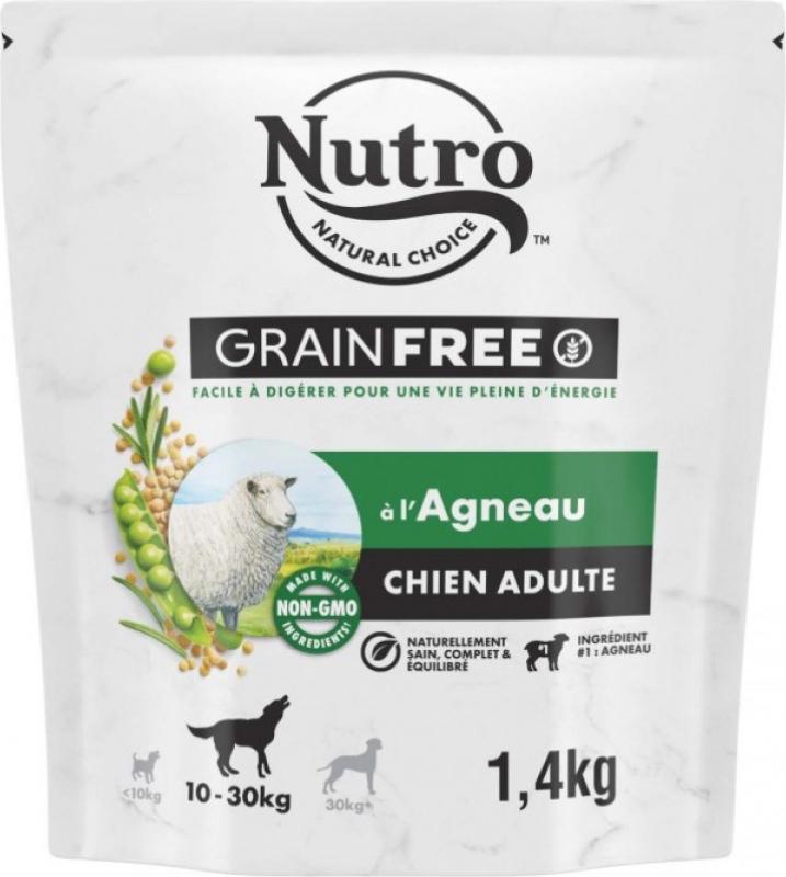 NUTRO Grain Free sans céréales à l'agneau pour chien adulte de taille moyenne