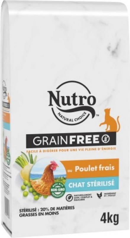 NUTRO Grain Free sans céréales au poulet pour chat adulte stérilisé