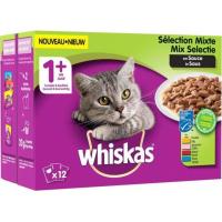 WHISKAS Pâtée mixte pour chat adulte - 4 variétés