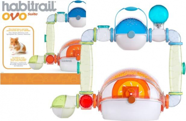 Cage Habitrail Ovo Suite pour Hamster