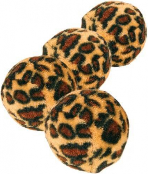 Set Spielbälle mit Leopardenmuster, Kunststoff