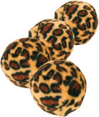 Balles de jeu avec empreinte léopard (x4)