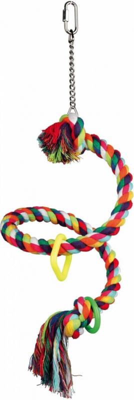 Perchoir corde spirale