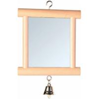Miroir cadre bois clochette