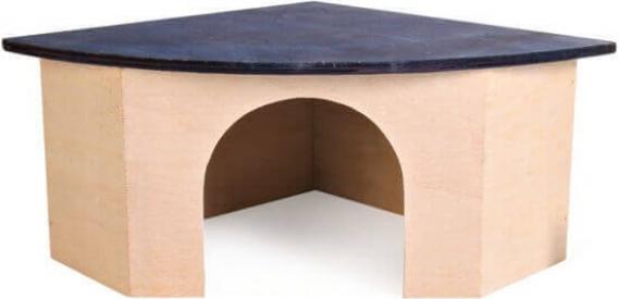 Maison d'angle pour rongeurs et lapins