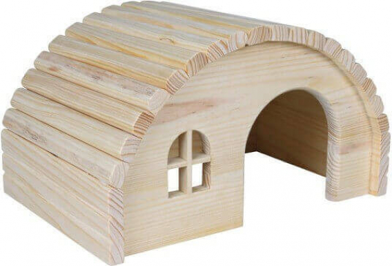 Maison en bois toit arrondi