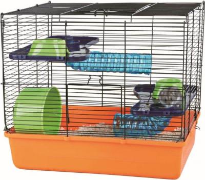 Jaula para pequeños roedores con accesorios básicos