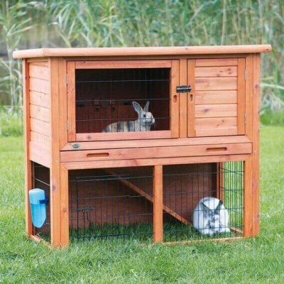 Conejera para animales pequeños con patio exterior