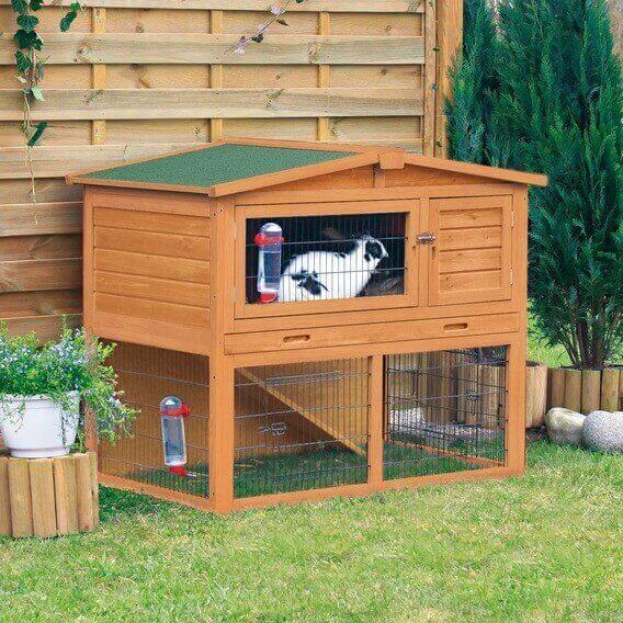 Hasenstall für kleine Tiere mit Außenhof