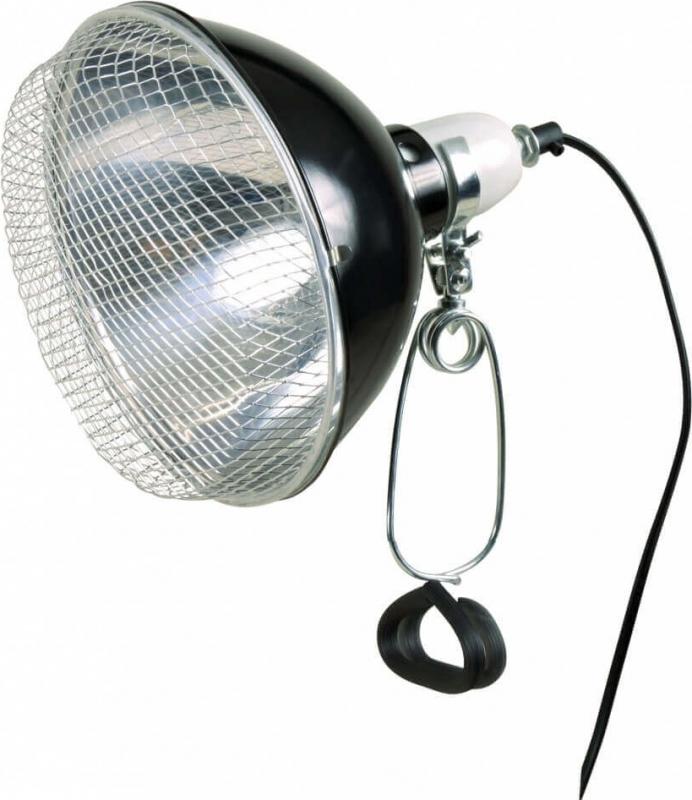 Lampe réflecteur à pince avec grillage