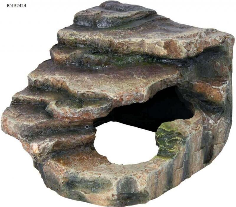 Rocher d'angle avec grotte et plateforme pour forêt tropicale