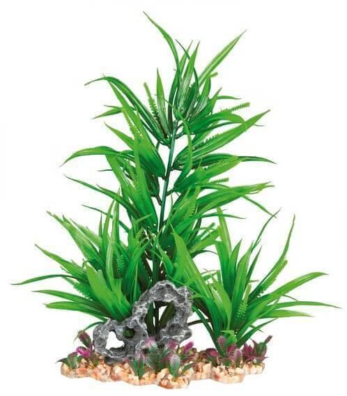 Plante plastique sur lit de graviers_2