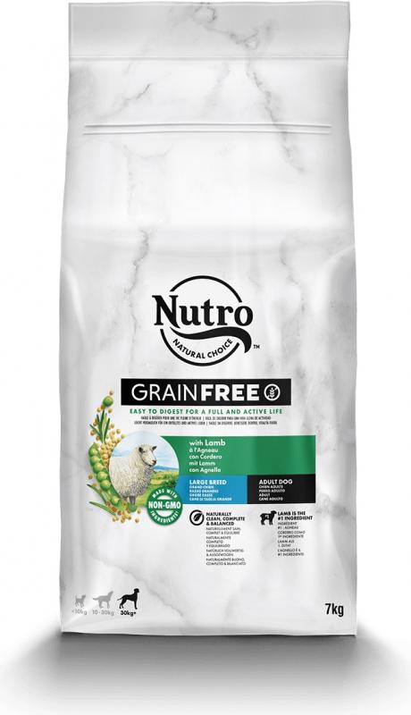 NUTRO Grain Free sans céréales à l'agneau pour chien adulte de grande taille