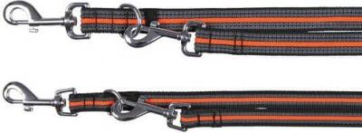 Fusion Laisse réglable noir et orange