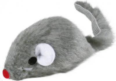 Ratón de peluche con cascabel