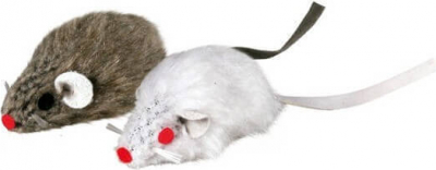 Set of 2 Furry Mice