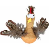 Steh-auf-Huhn mit Federn und Sound, Plüsch