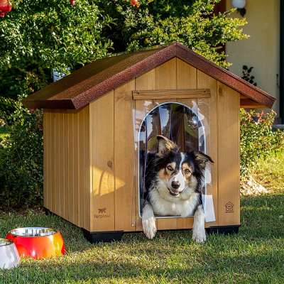 Niche pour chien PREMIUM en bois Domus