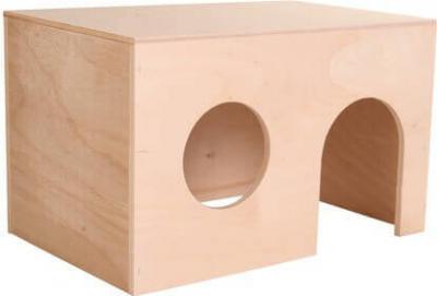 Maisonnette pour cochons d'Inde en bois, deux tailles