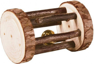 Natural Living Roller Toy with Bell