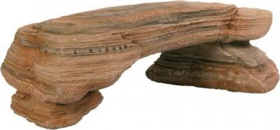 Plateau de roches, sable couleur