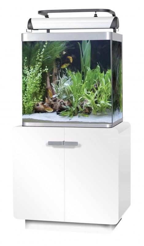 aquarium osaka 155 140l blanc glossy white aquarium et meuble. Black Bedroom Furniture Sets. Home Design Ideas