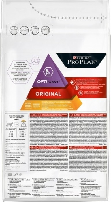 PRO PLAN Original Kitten Optistart au Poulet pour Chaton