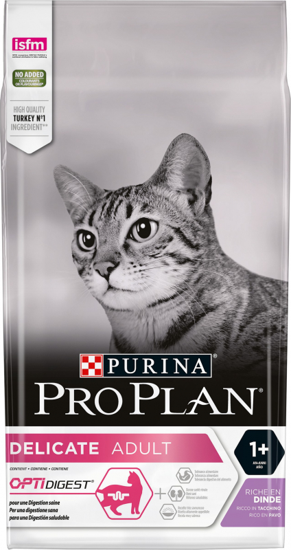 PRO PLAN CAT DELICATE Rico en pavo y arroz