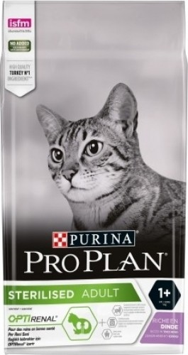 PRO PLAN Sterilised Adult Optirenal à la Dinde pour chat adulte stérilisé