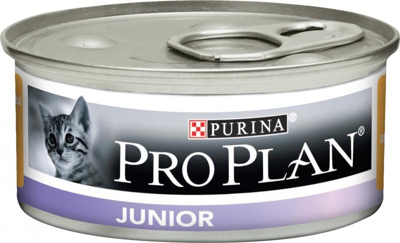 PRO PLAN Junior Pâtée au poulet pour chaton - Boîtes de 85g