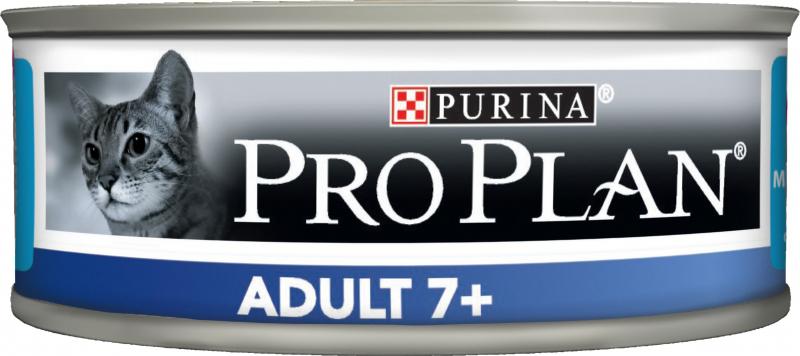 PRO PLAN Adult 7+ Pâtée au thon en boîtes pour chat senior