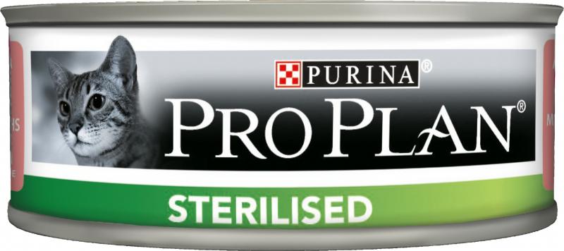 PRO PLAN Sterilised Pâtée au thon et au saumon en boite pour chat