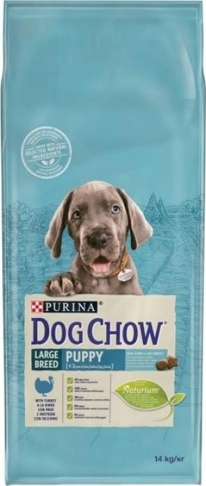 DOG CHOW pour chiots de grandes races avec de la dinde
