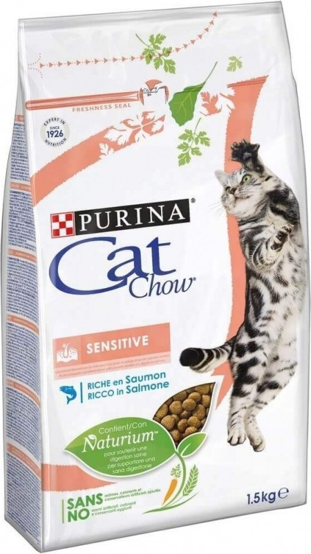 CAT CHOW pour chat adulte Special Sensitive au saumon