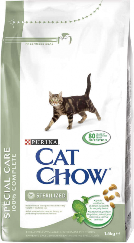 CAT CHOW STERILISED pour chat stérilisé riche en poulet