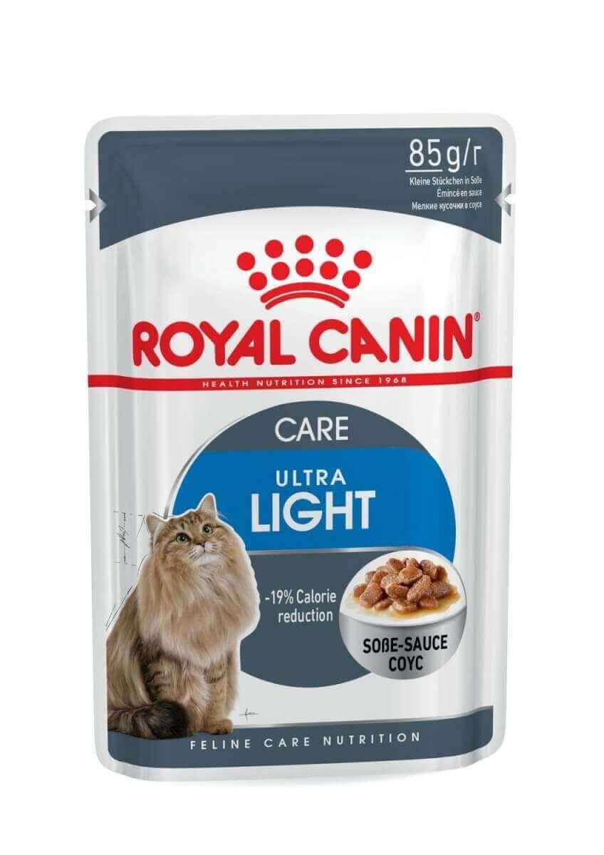 Royal Canin Ultra Light P 226 T 233 E En Sauce Pour Chat Adulte