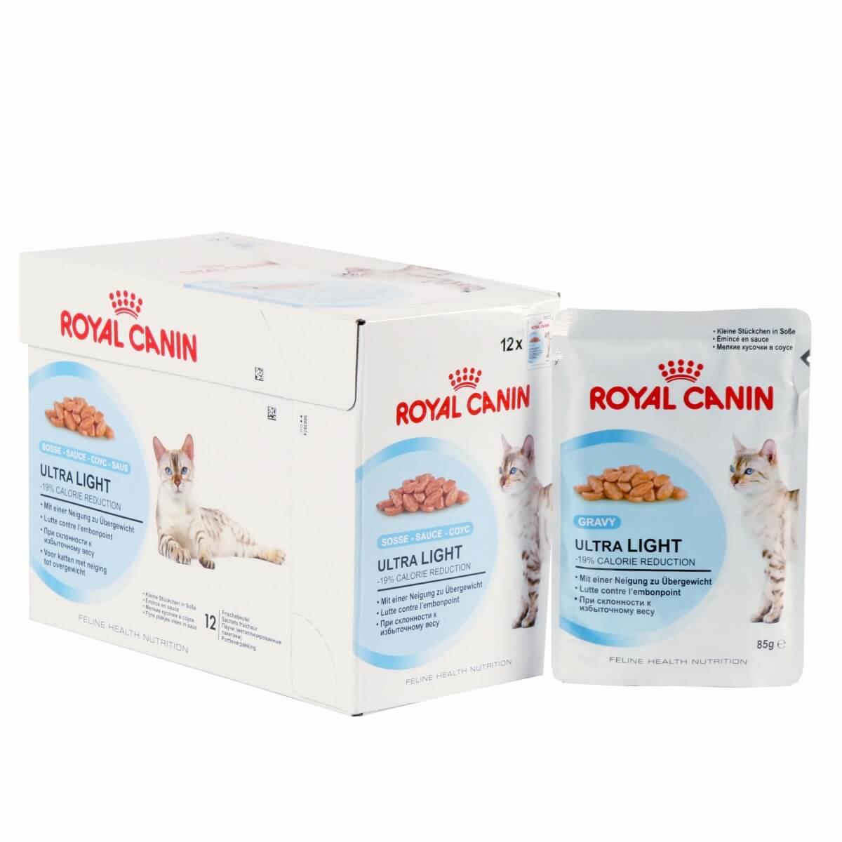 P 226 T 233 E Pour Chats Adultes Royal Canin Ultra Light En Sauce