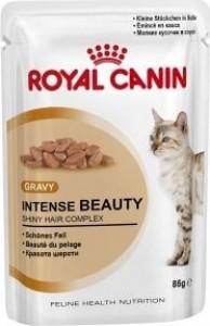 Bolsa de comida gelatinosa  ROYAL CANIN ADULTE INTENSE BEAUTY, 85 gr.