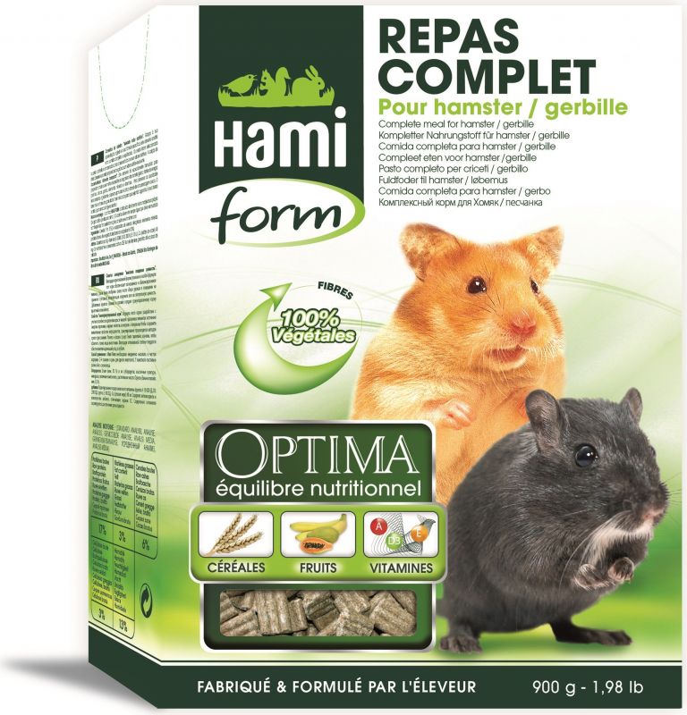 Hamiform Optima repas complet hamster et gerbille