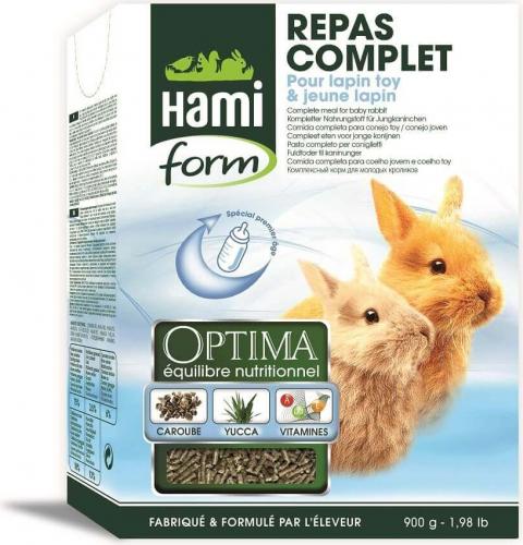 Pienso para conejos jóvenes y  conejos toy comida completa OPTIMA