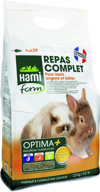 Repas premium OPTIMA+ lapin poils long