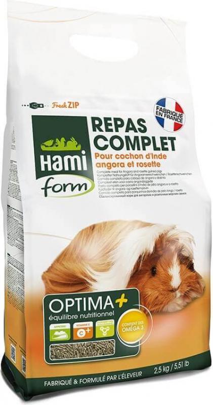 Repas premium 2,5 KG OPTIMA+ cochon d'inde angora ou rosette