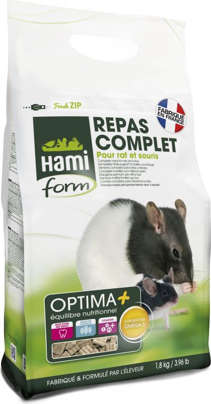 Repas premium OPTIMA+ rats et souris