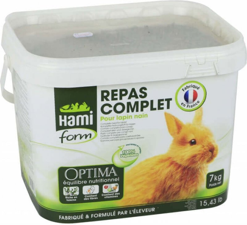 Hamiform - Eimer mit vollwertigem Futter für Zwergkaninchen