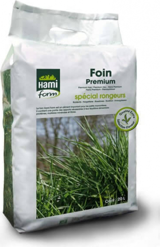 Foin premium Hamiform spécial rongeurs 20L et 150L parfumée