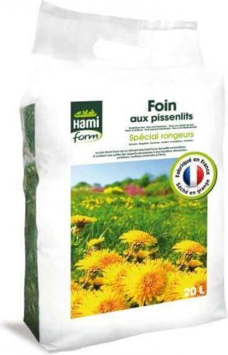 Foin premium Hamiform aux pissenlits 20L spécial rongeurs