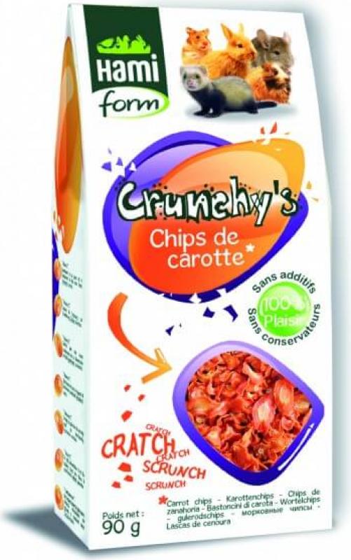 Friandises Chips de carotte pour cochon d'inde CRUNCHY'S