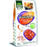 Golosinas Chips de zanahoria para conejillo de India
