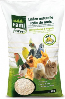 Corn litter for small animals